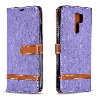 Leather Case For Xiaomi Redmi 9 Denim Pattern