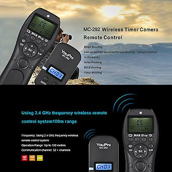 Dc2 2.4g Wireless Remote Control Lcd Timer Shutter Release Transmitter Receiver