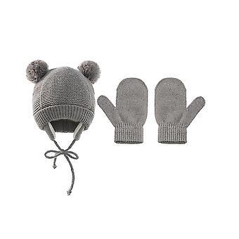 Copii de iarnă Polar Fleece Soft Warm Hat Mănuși Set