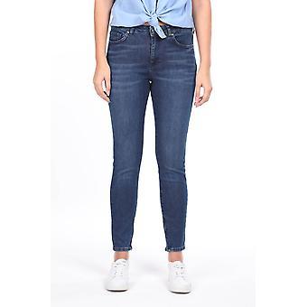 Midt midje jeans med glidelås ben