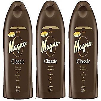 Magno Shower Gel 550ml (3 Pack)