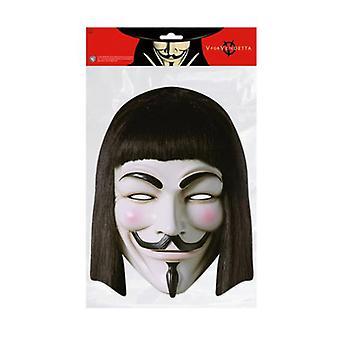 V For Vendetta Single 2D Card Party Fancy Dress Mask