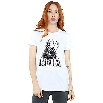 Gallows Women's Black Skull Boyfriend Fit T-Shirt