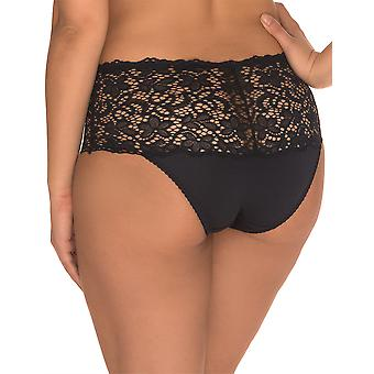 Sans Complexe 619611-Noir Women's Clemence Black Full Panty Highwaist Brief