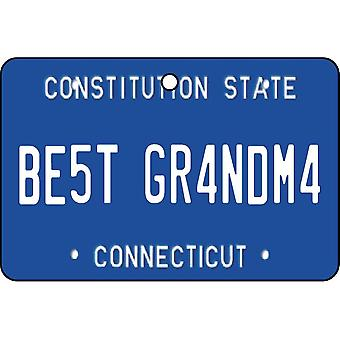 Connecticut - Best Grandma License Plate Car Air Freshener