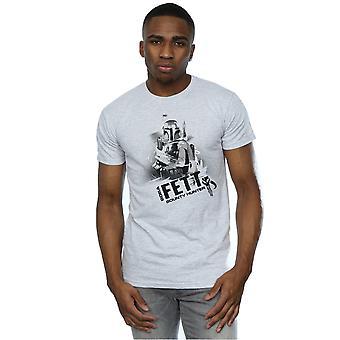 Star Wars Herren Boba Fett Kopfgeldjäger T-Shirt