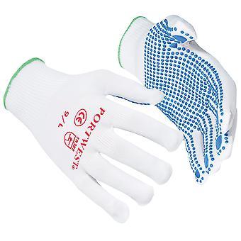 Portwest Nylon Polka Dot handsker (A110) / Safetywear / arbejdstøj