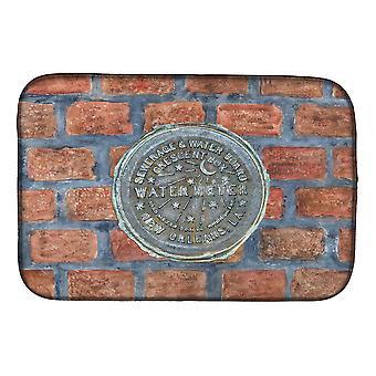 Carolines Treasures  8829DDM New Orleans Watermeter on Bricks Dish Drying Mat