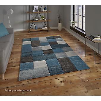 Nordia blau grau Teppich