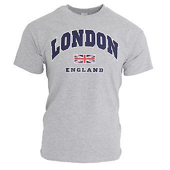 Mens London England Print 100% Cotton Short Sleeve Casual T-Shirt/Top