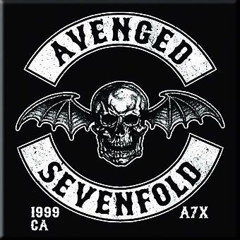 Avenged Sevenfold Fridge Magnet Deathbat Crest new Official 76mm x 76mm