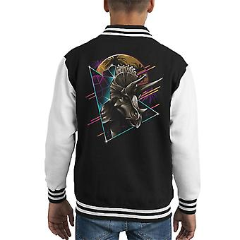 Jurassic World Rad Triceratops Retro 80s Kid's Varsity Jacket