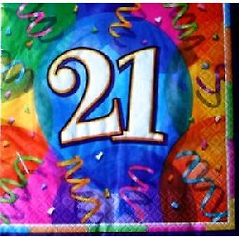 21: a födelsedag lysande Party servetter