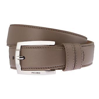 PICARD belts men's belts leather belt stone/grey 2532