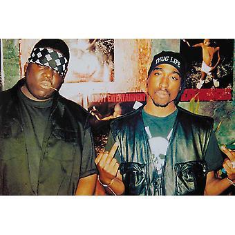 Ökända stora & Tupac Badboy Badboy underhållning affisch Skriv