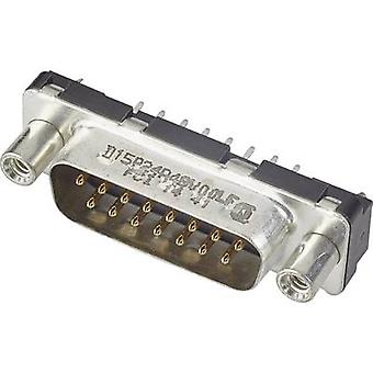 FCI D-SUB D15P13A4GX00LF D-SUB PIN Strip 90 ° antal stifter: 15 print 1 pc (er)