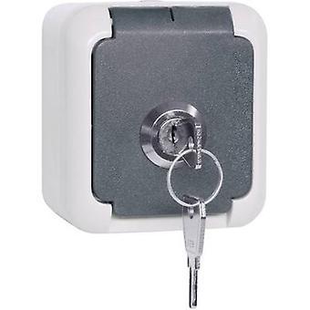 Erick 102 337 soquete de montagem em superfície bloqueável, Keyed-parecidos IP44 cinzento
