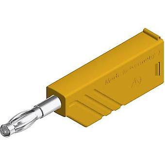 SKS Hirschmann LAS N WS lame branchez, tout droit Pin diamètre: 4 mm jaune 1 PC (s)