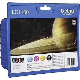 Brother encre LC-1100 originale mis LC1100VALBP noir, Cyan, Magenta, jaune