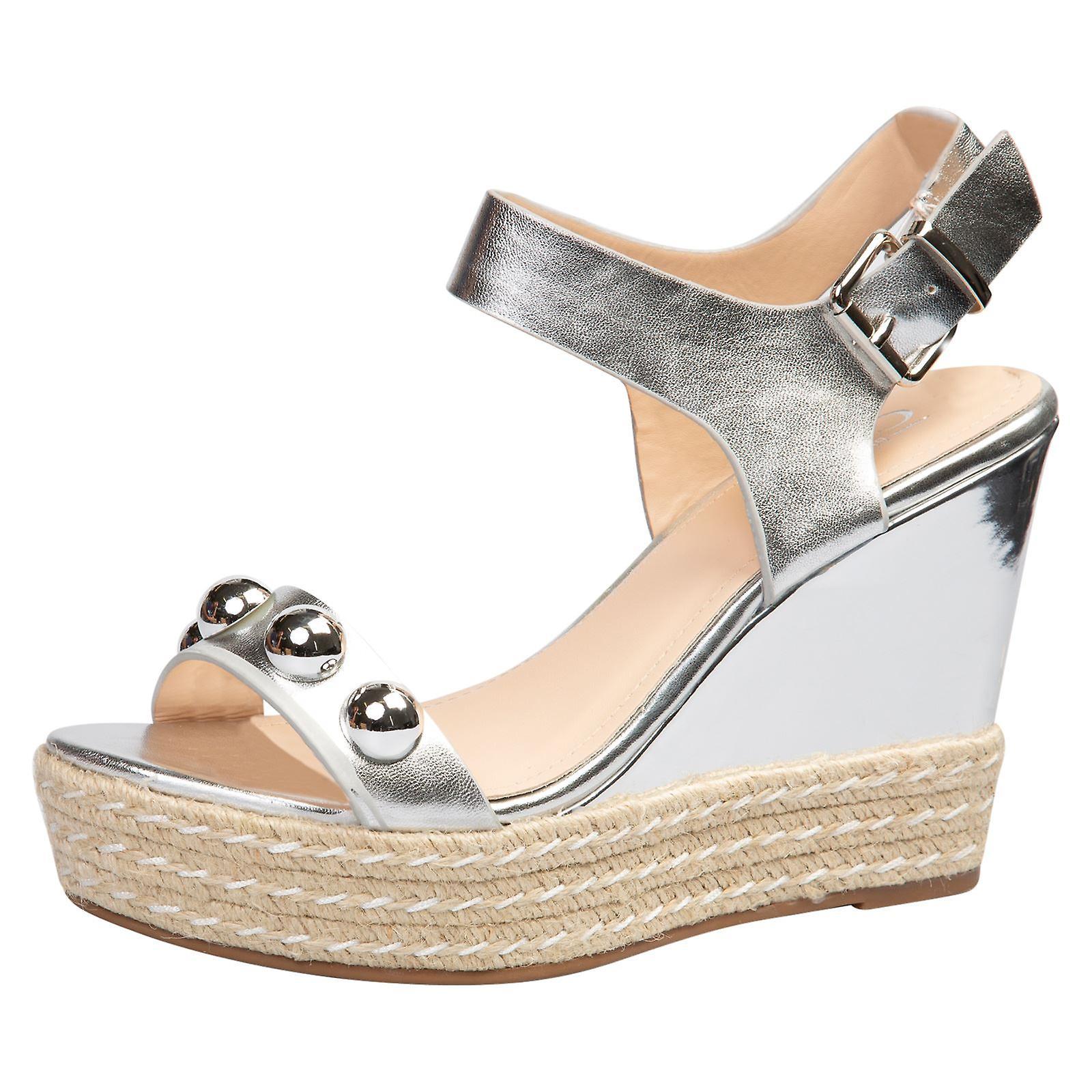 Iolanthe Womens High Wedge Heels Platforms Studded Sandals
