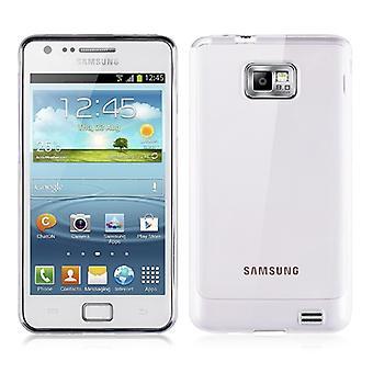 Samsung Galaxy S2 i9100 gjennomsiktig coveret silikon