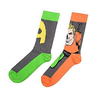 Aquaman 2 Pack Socks