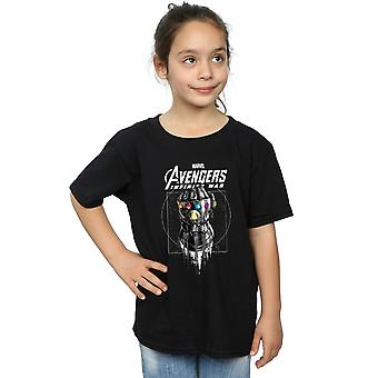 Marvel Girls Avengers Infinity War Gauntlet T-Shirt