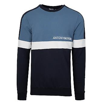 Antony Morato Blue Crew Neck Sweatshirt