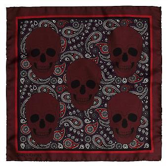 Simon Carter gedruckt Schädel Einstecktuch - rot