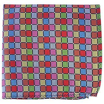 Knightsbridge Neckwear Quadrate Seide Stecktuch - mehrfarbig