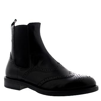 Womens Vagabond Amina Black Leather Brogue Casual Chelsea Ankle Boots