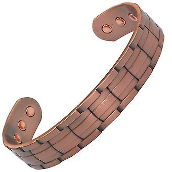 MPS® NORAD bracelet magnétique en cuivre pur avec 6 aimants avec pochette cadeau de luxe