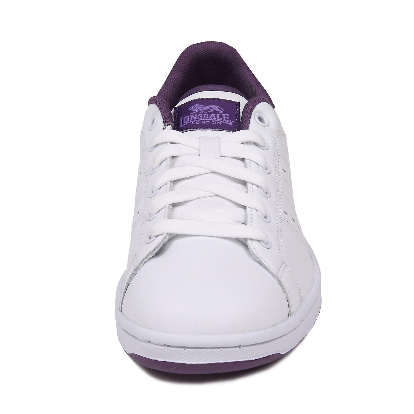 Lonsdale Womens Leyton Ladies Lace Up Sport Shoes Casual Footwear Trainers