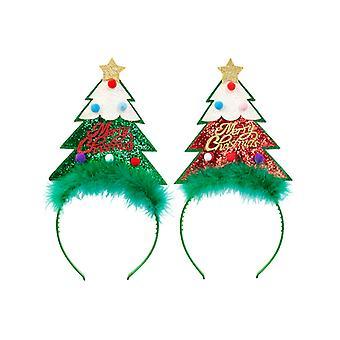 Glitzer Weihnachtsbaum Kopf Bopper - kommen in entweder grün oder rot
