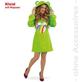 Ursinho da sorte de senhoras do urso traje traje feminino-arco-íris