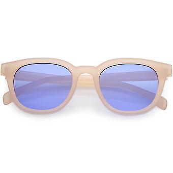 Moderne hoorn omrande vierkante zonnebril vlakke Lens 50mm