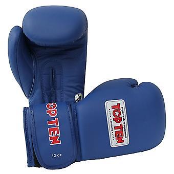 Top dix gants de boxe compétition AIBA bleu 10oz