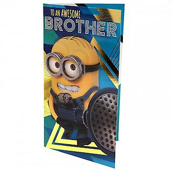 Despicable Me 3 Minion Brother Birthday Card