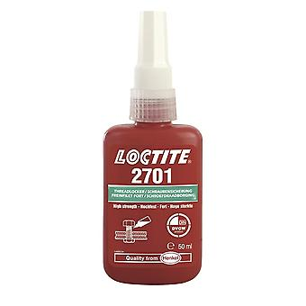 Loctite 2701 50ml High Strength Low Viscosity Threadlocking Adhesive Glue 135281