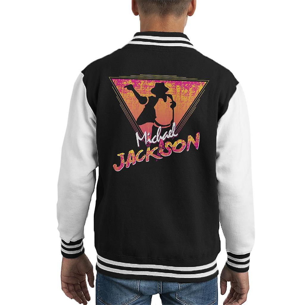Michael Jackson Retro 80er Jahre Silhouette Kid Varsity Jacket