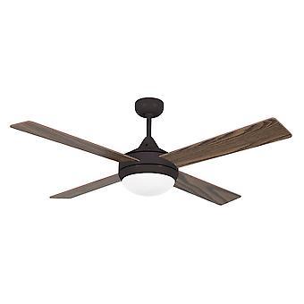 Faro - ventilador de techo marrón grande de Icaria con luz FARO33702