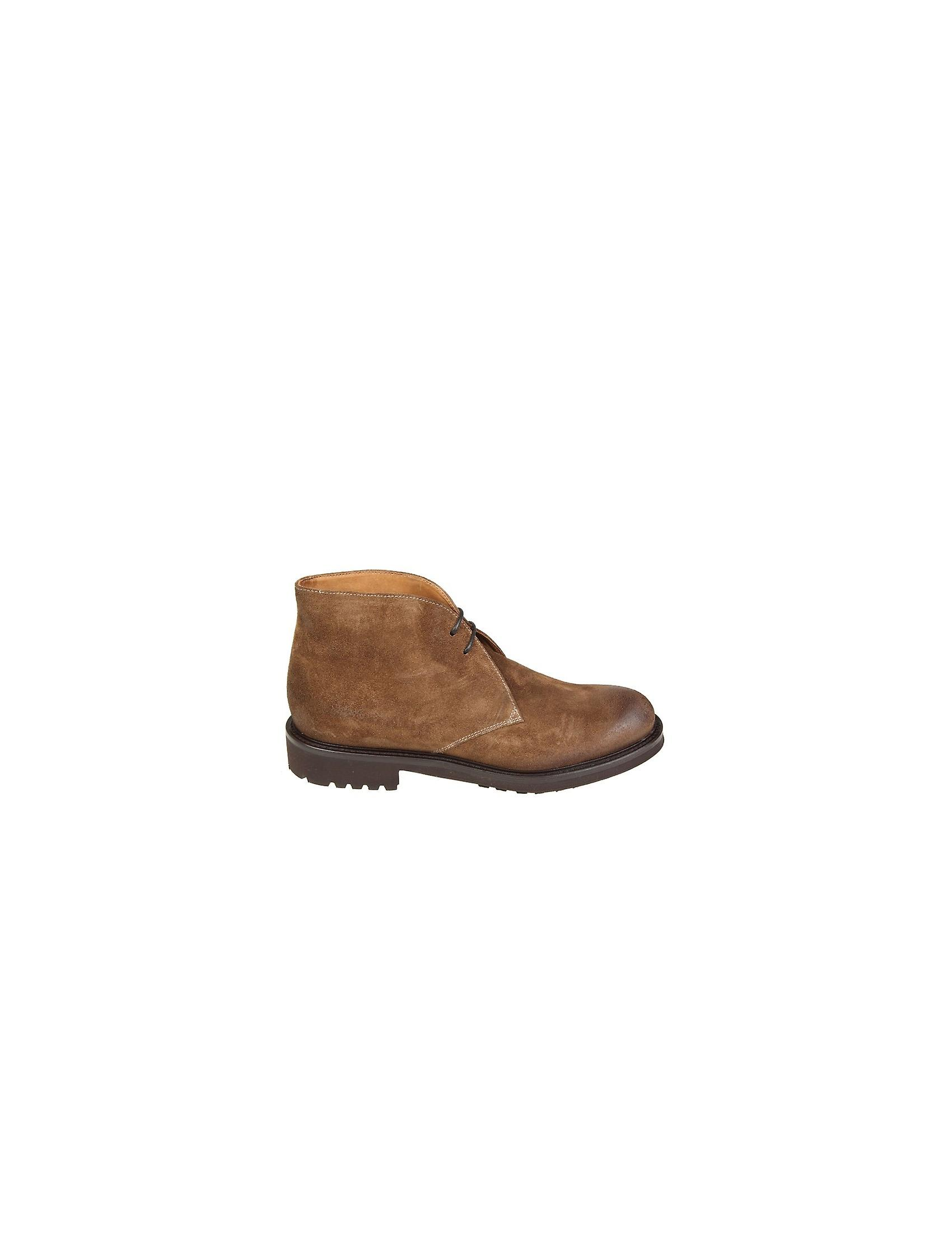 Doucal-apos;s 1247tabacco Men-apos;s Brown Suede Ankle Boots