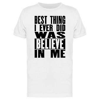Ich glaube an mich Phrase T-Shirt Herren-Bild von Shutterstock