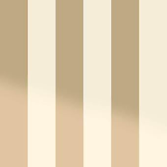 Bold Stripe Creme Gold metallischer Schimmer Wallpaper Feature Holden Dekor Dillan