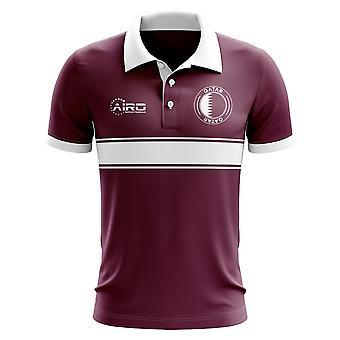 قطر مفهوم قميص البولو Stripe (مارون)