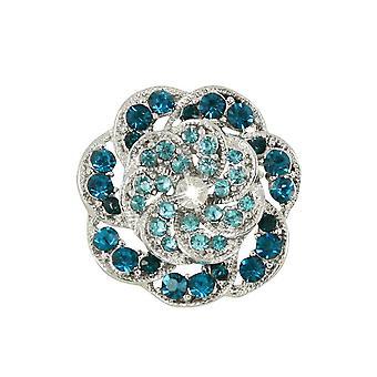Eviga samling Vintage stil turkos & Aqua Silver Scarf Clip