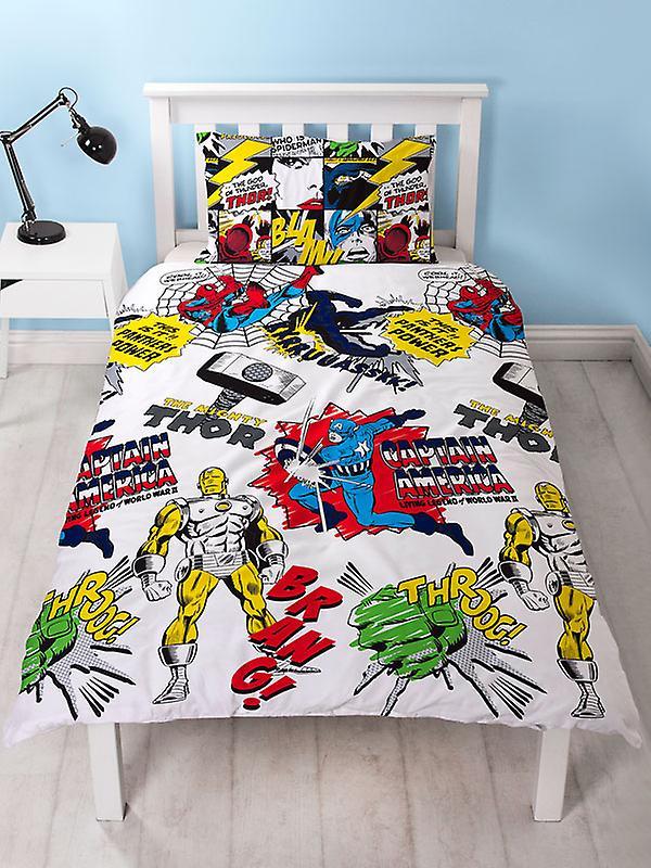 Marvel Comics Scribble Single Duvet Cover Set