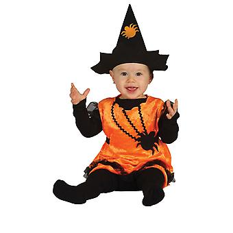 Toddlers Baby Pumpkin Witch Halloween Fancy Dress Costume