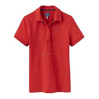 Joules Amity mujer bordado Polo Camisa - Rojo