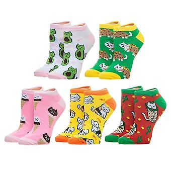 Ankle Sock - Cat Food - 5 Pack New xs7n61plw